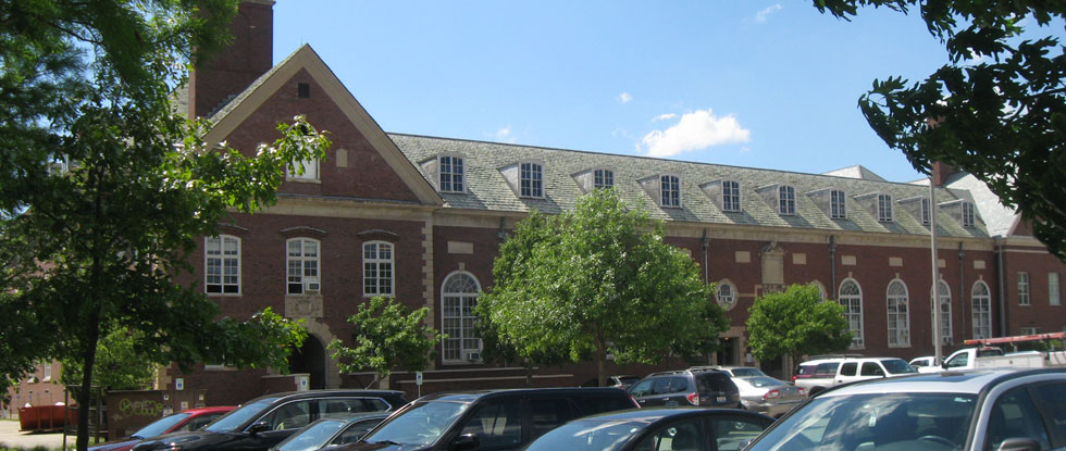 East-facing side of Huff Hall