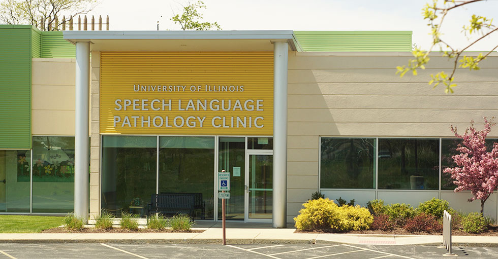 front of Speech Language Pathology building